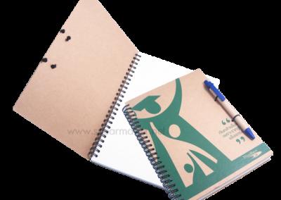 สมุดไดอารี่ ปกรีไซเคิล A5+ปากกา